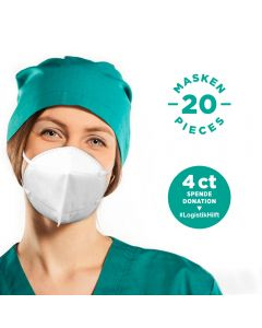LUCARE KN95 Community-Masken, 4-lagig (20 Stück)